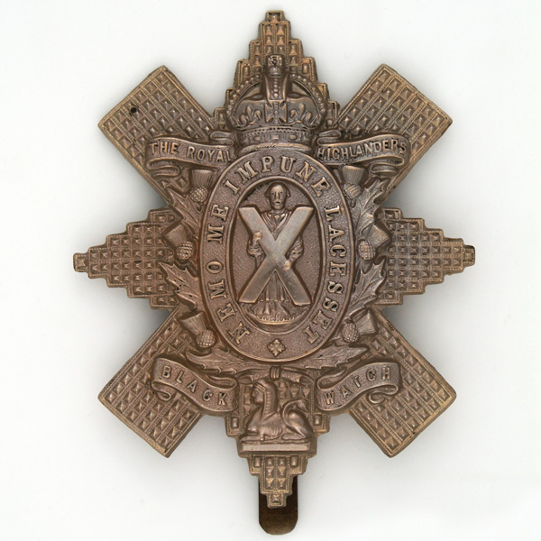 Other ranks' cap badge of The Black Watch (Royal Highlanders), c1902