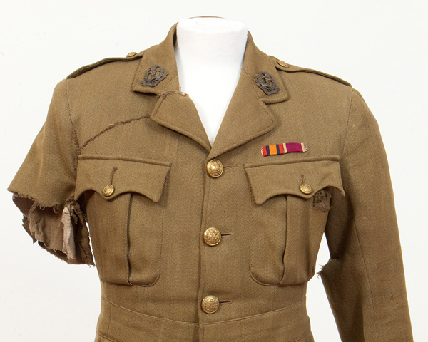 Tunic worn by Captain George Johnson, 1 July 1916