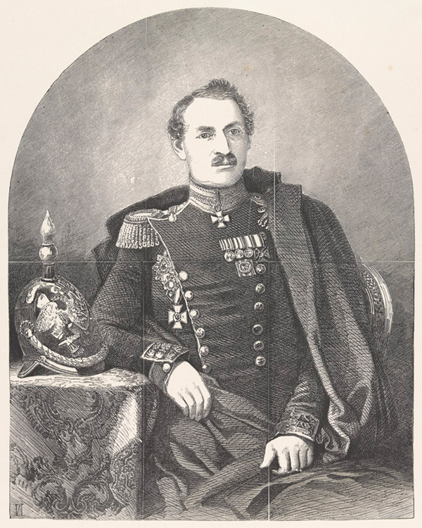 Lieutenant General Pavel Liprandi, 1854. He commanded the Russian force at Balaklava