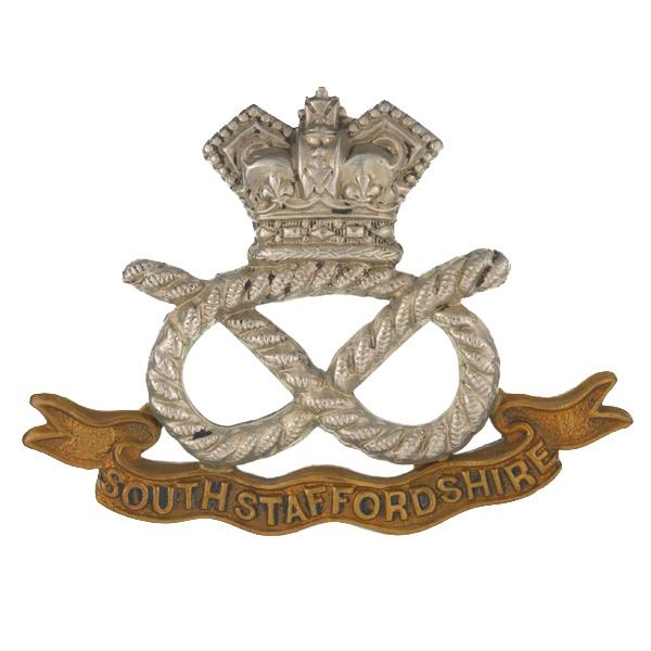 Cap badge, The South Staffordshire Regiment, c1900