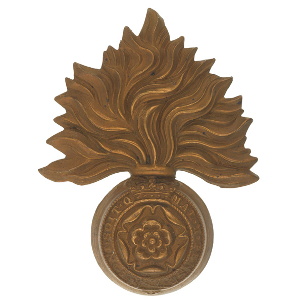 Other ranks' cap badge, The Royal Fusiliers (City of London Regiment), c1898