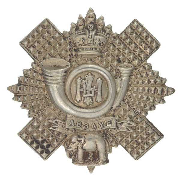 Other ranks' glengarry badge, The Highland Light Infantry, c1900