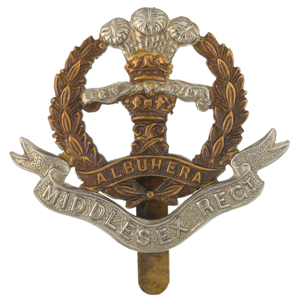 Other ranks' cap badge, The Middlesex Regiment (Duke of Cambridge's Own)