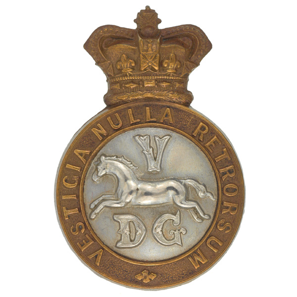 Other ranks cap badge, 5th Dragoon Guards, c1900