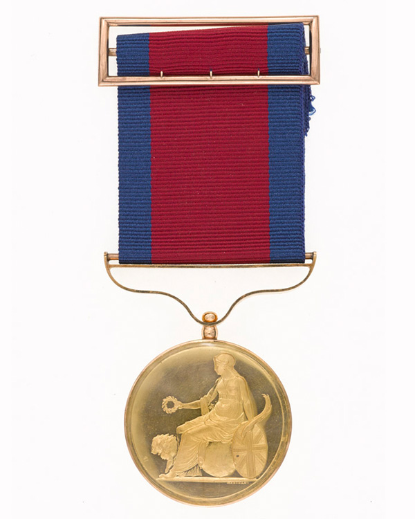 The Army Gold Medal awarded to Sir William Inglis for his actions at Albuhera
