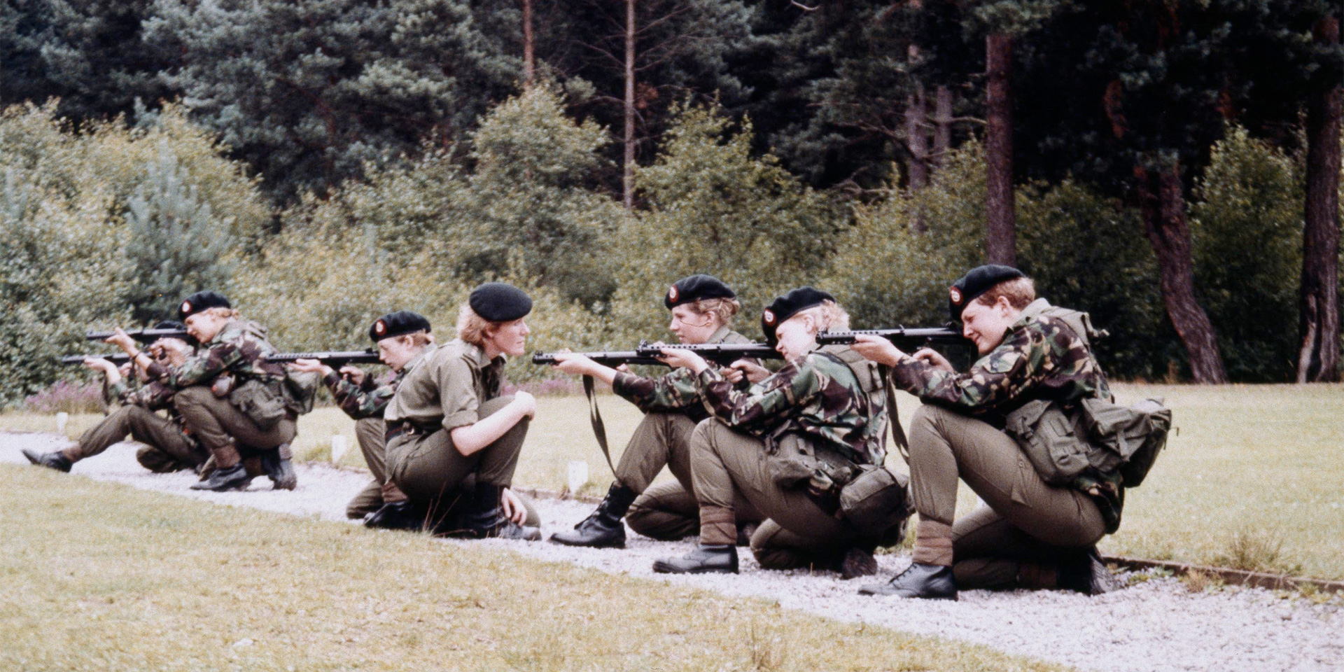 Skill at arms, 2 Training Company, WRAC Centre, Guildford, c1986