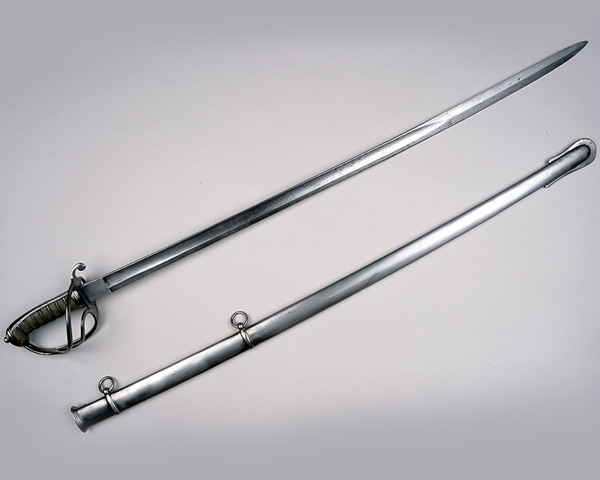 Sword used by Major Thomas Everard Hutton during the charge, 1854. Hutton was shot through both legs and his horse wounded 11 times