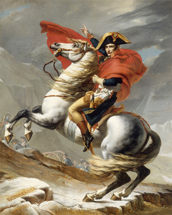 Napoleon Crossing the Alps, Jacques Louis David