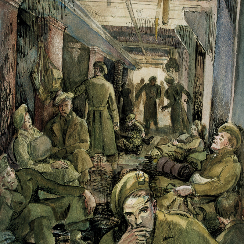 The journey over on HMTS Fort Wrigley, June 1944, by Fred Darking