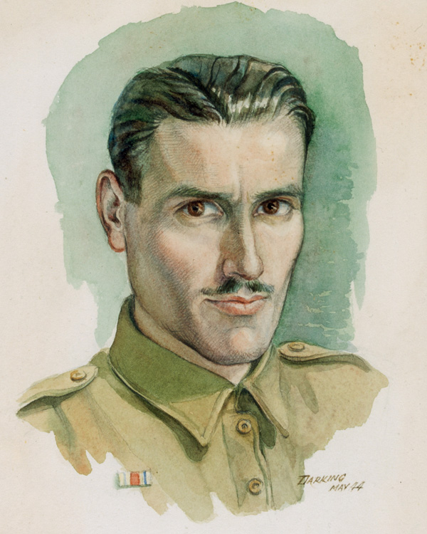 Self-Portrait by Sergeant Fred Darking, Royal Engineers, May 1944