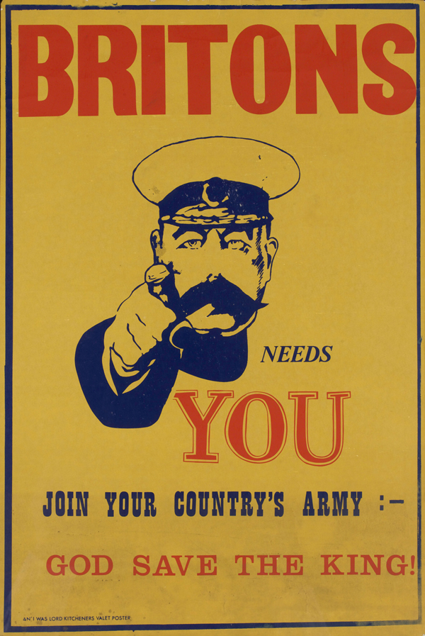 'Kitchener Needs You' advertising poster for I Was Lord Kitchener's Valet, 1970