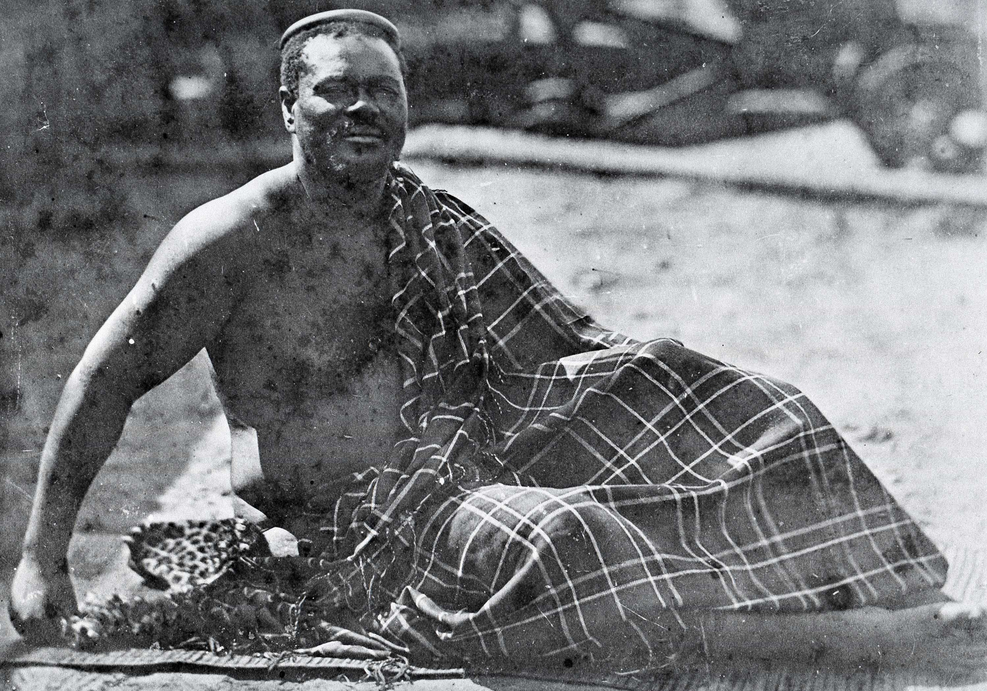 King Cetshwayo in exile in Capetown, 1879