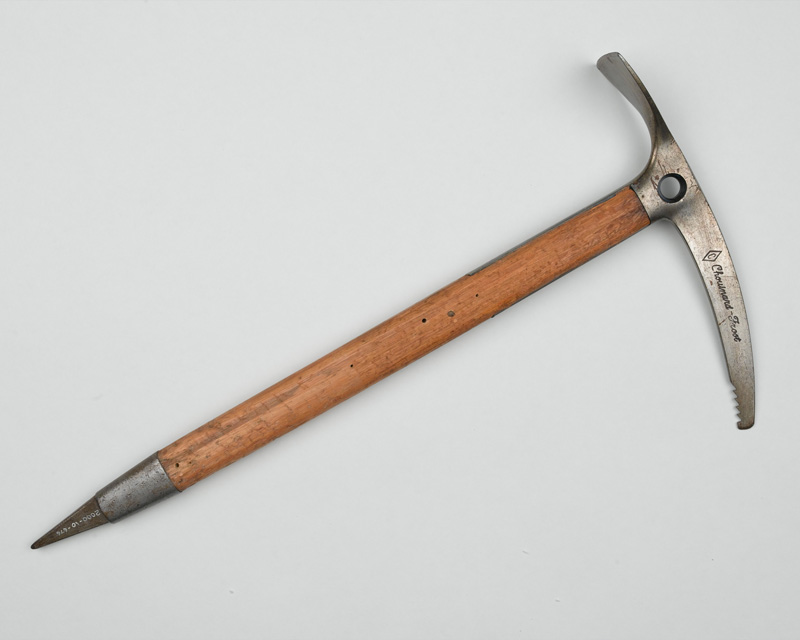 Ice axe used by Bronco Lane on the expedition to Everest, 1976