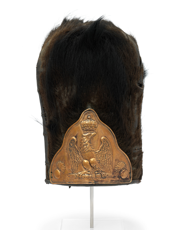 Bearskin worn by the French Imperial Guard