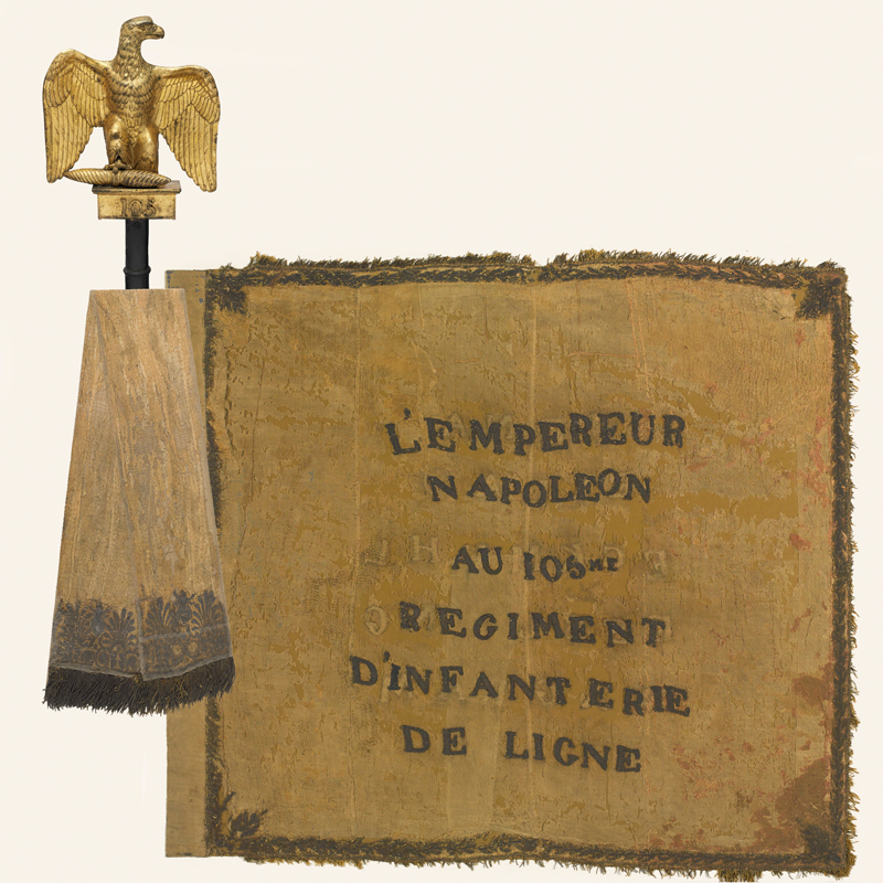 French Eagle standard captured by Alexander Kennedy Clark at Waterloo, 1815