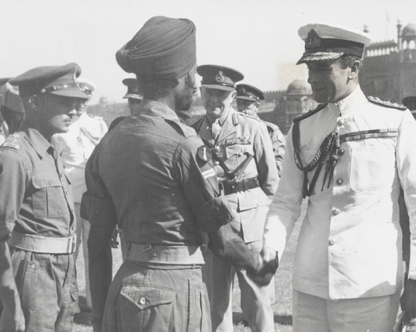 Lord Mountbatten of Burma presenting medals