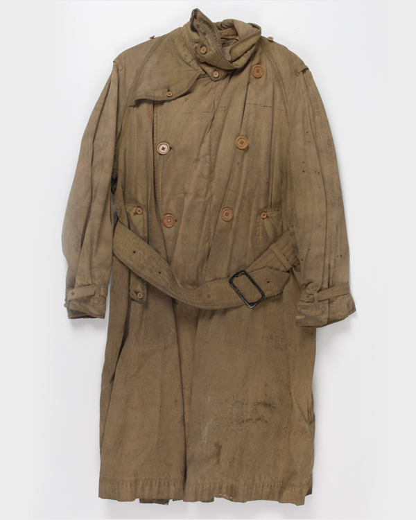Trench coat worn by Major General Holt during the First World War, 1918