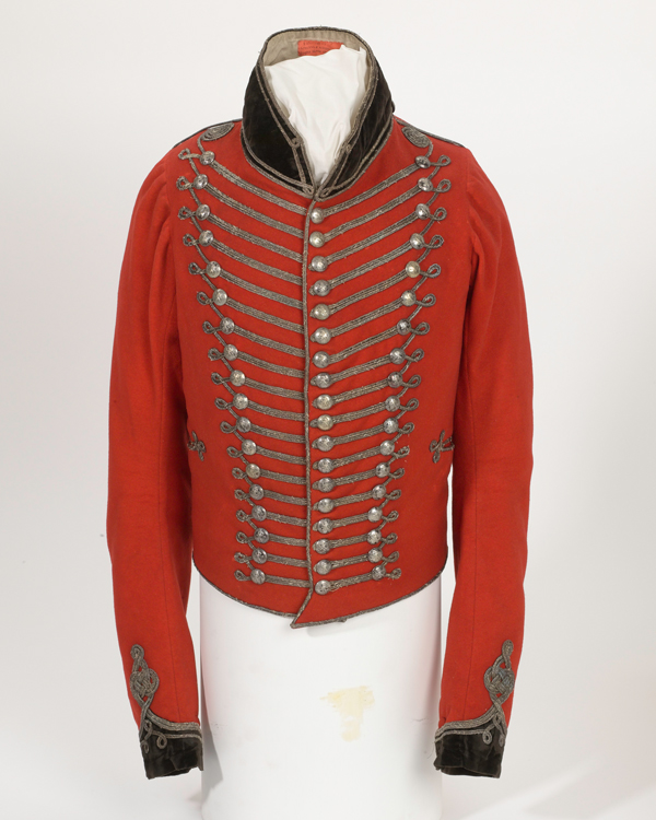 Short frogged officers jacket worn by Colonel Charles Herries, 1813