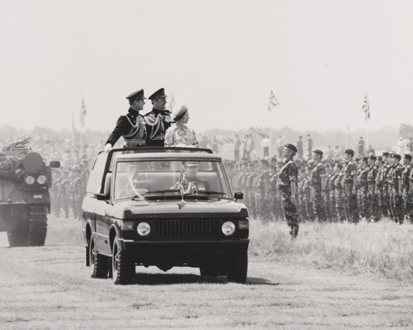Royal Review of the Army, Sennelager, Germany 7 Jul 1977