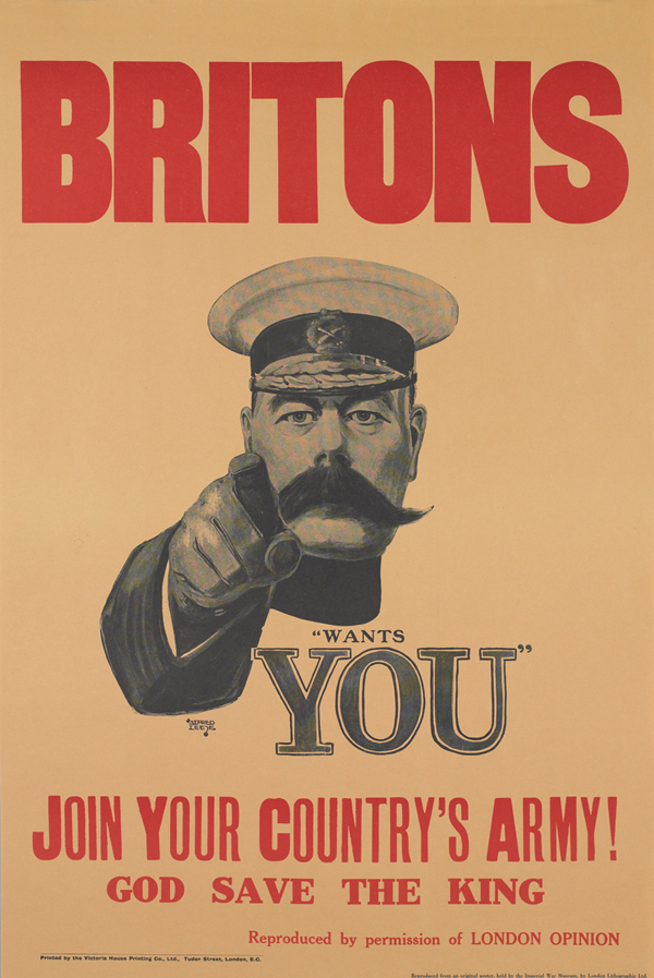 'Lord Kitchener Wants You' recruitment poster, 1914 © IWM