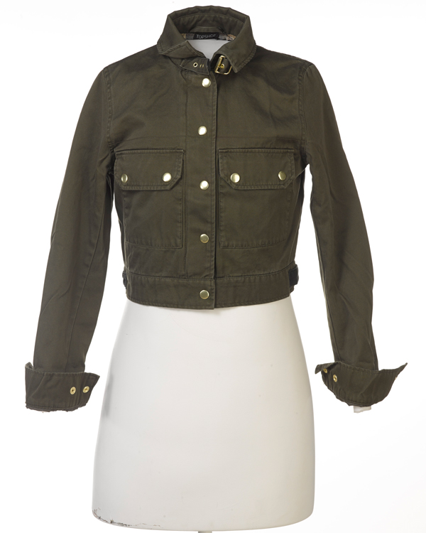 Topshop cropped military jacket, 2014