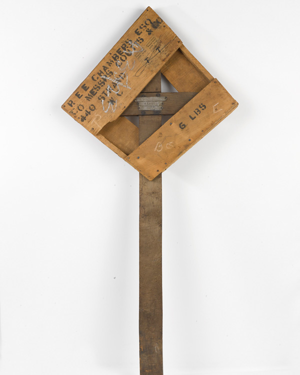 Temporary grave marker for Edward Chandos Elliot Chambers, he was killed in action on 1 July 1916