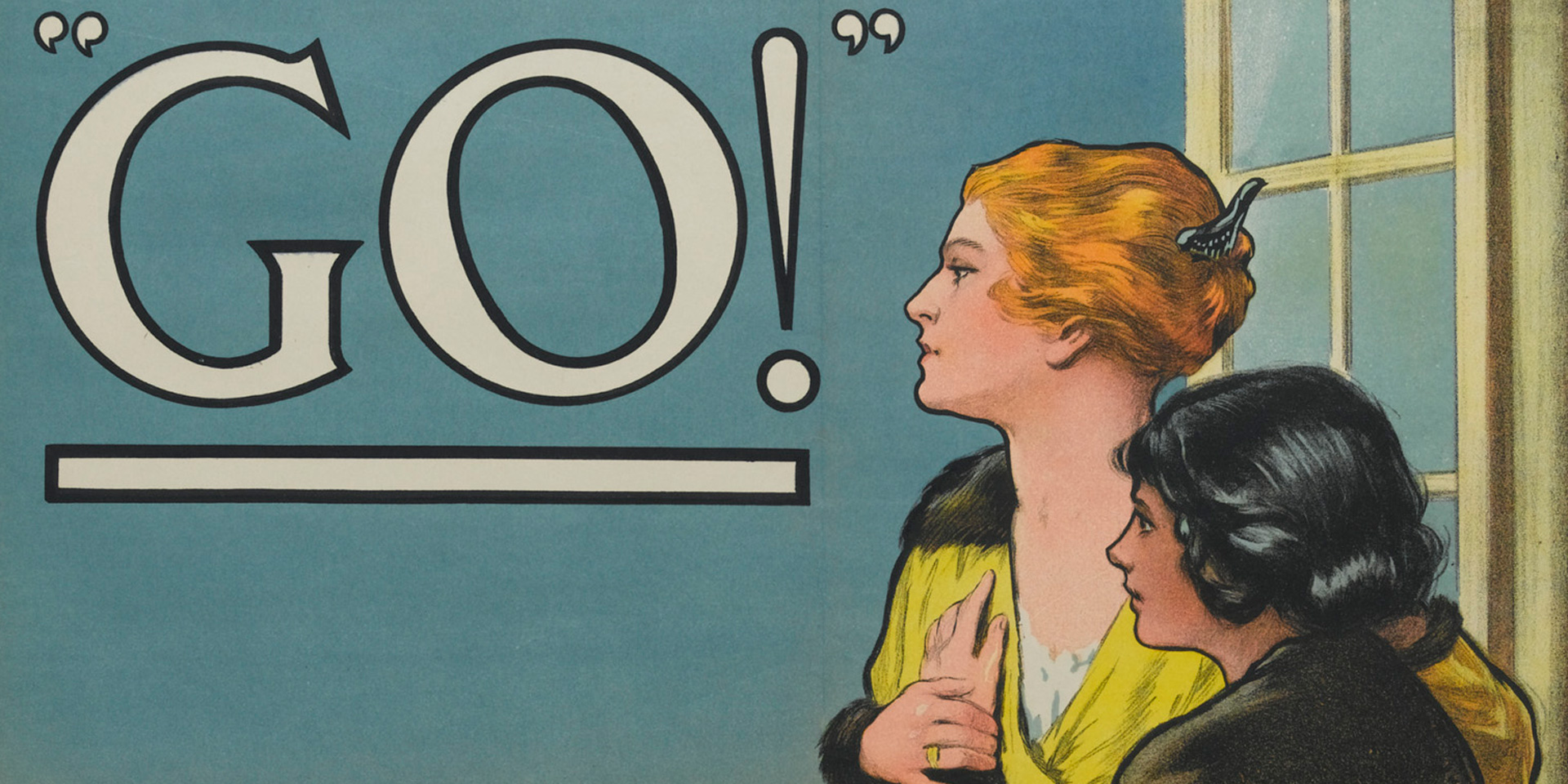 'Women of Britain Say - Go!' recruiting poster, 1915