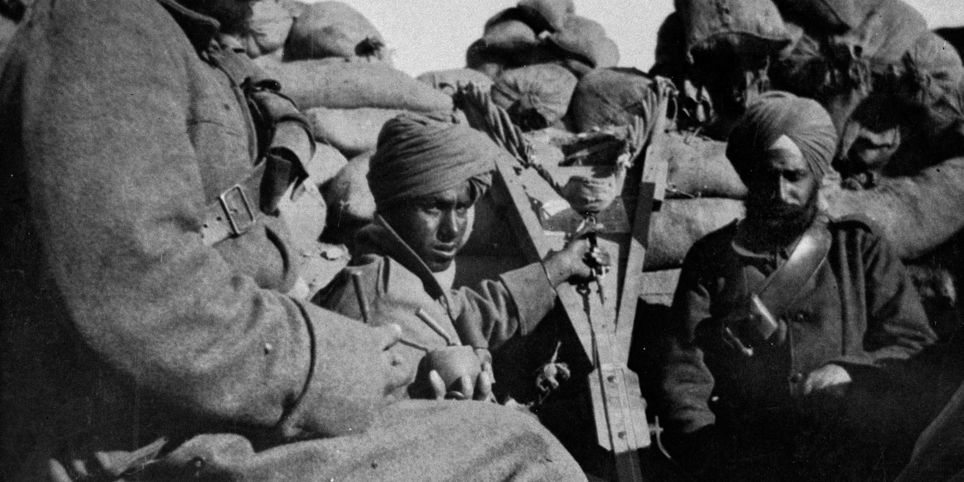 Troops of 29th Indian Infantry Brigade in the Trenches, Gallipoli, 1915