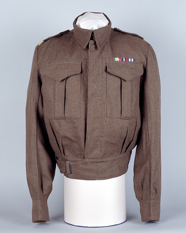 Battle Dress Blouse worn by Lt Col Henry Gale Stewart Burkitt during the Second World War