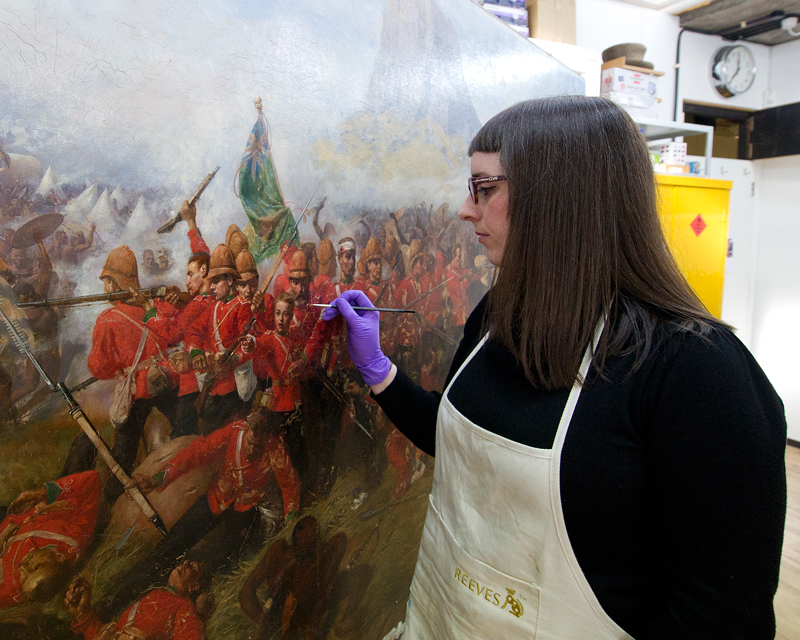 Watch how conservators restored Isandlwana