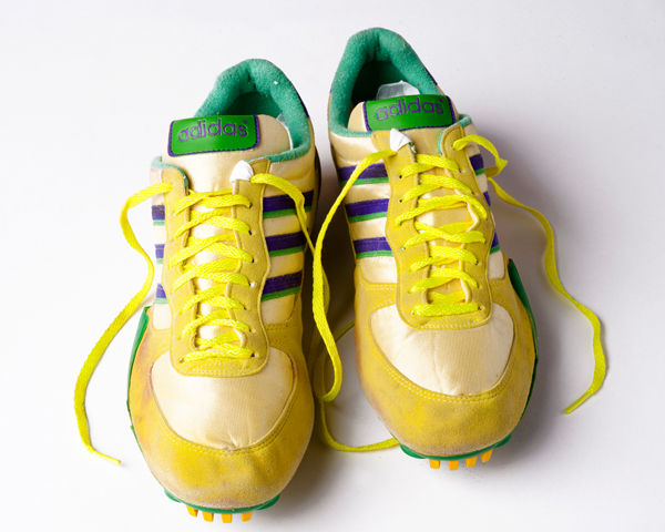 Running shoes worn by Kriss Akabusi during the 1993 season.