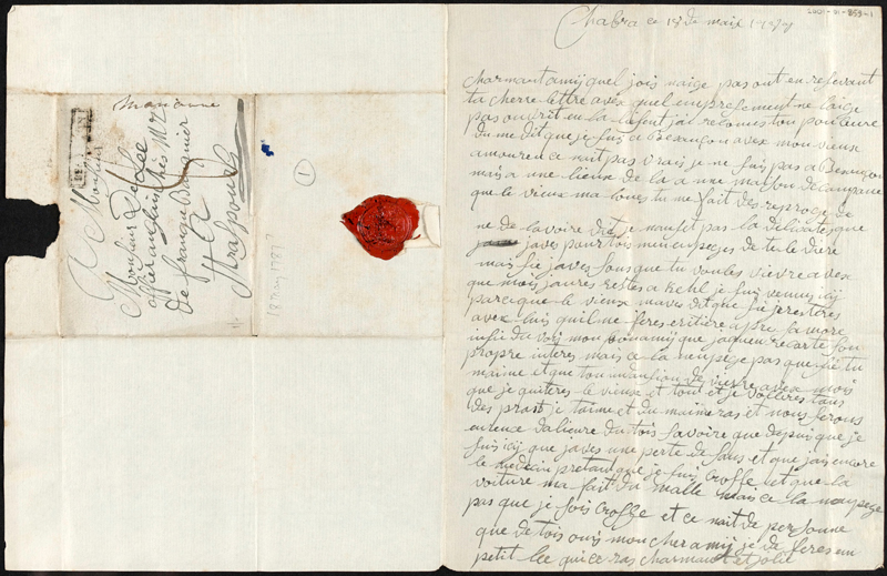 Letter from Marianne to William Lee, 18 May 1787