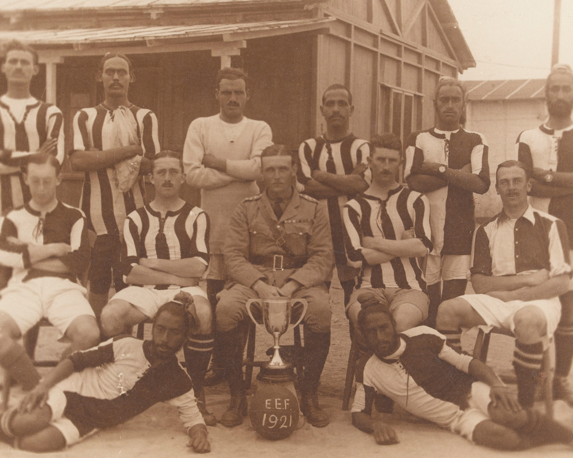 Football team from the 52nd Sikhs (Frontier Force), 1921