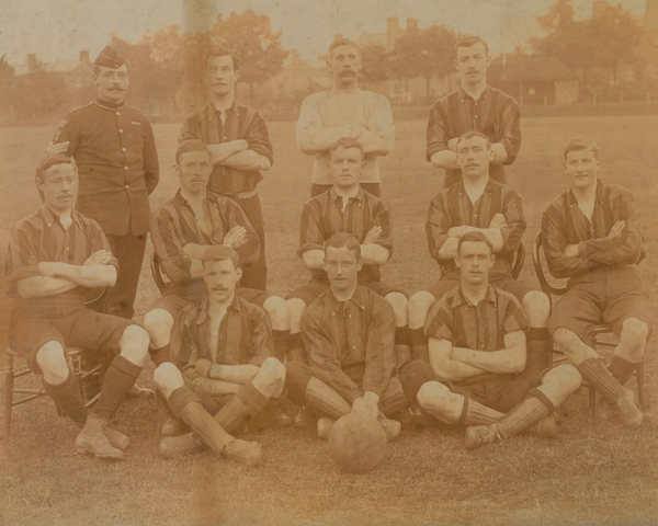 17th Company, Royal Engineers, football team, Aldershot, 1890