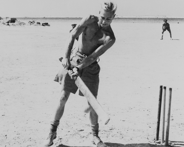 Australians of the 8th Army enjoy a game of cricket, North Africa, 1942