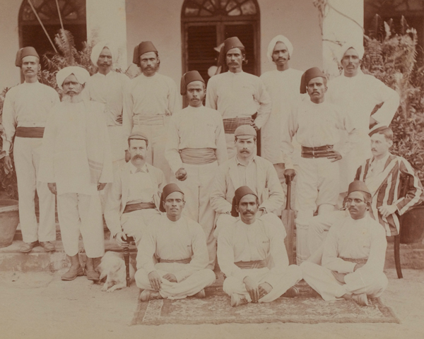 Cricketers of the 9th Madras Infantry, 1890