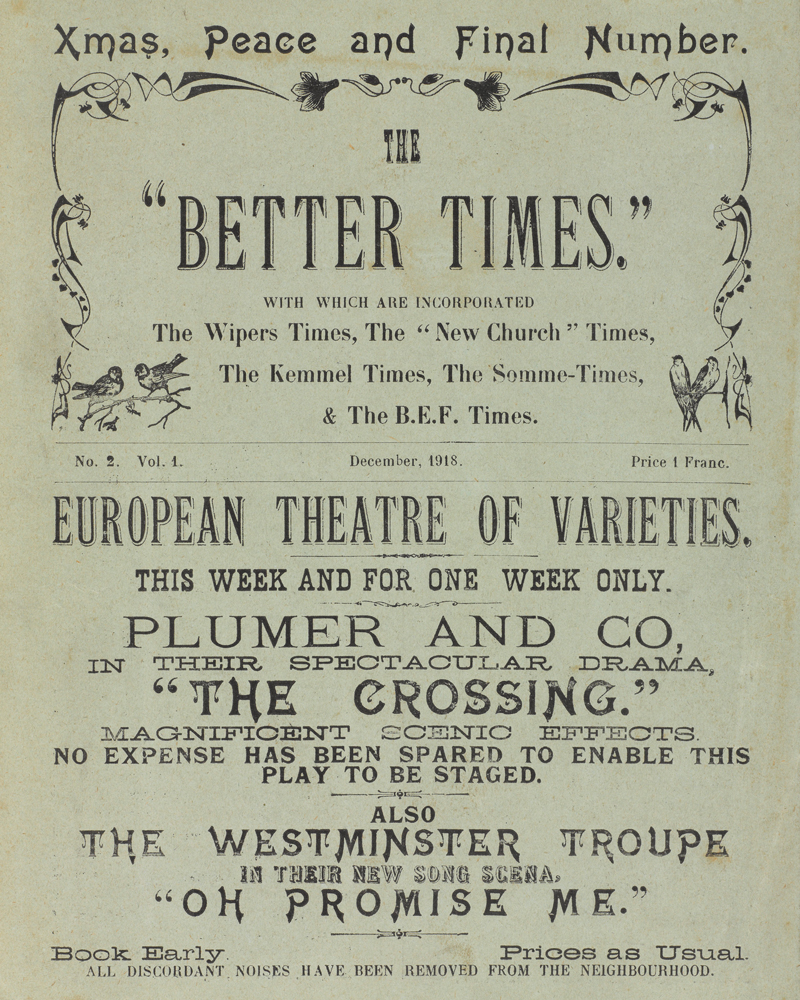 "'The ""Better Times""', December 1918"