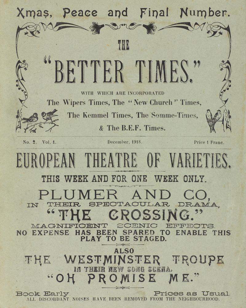 "'The ""Better Times""', December 1918"