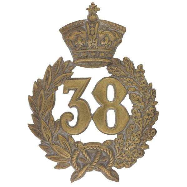 Glengarry badge, 38th (1st Staffordshire) Regiment, c1873