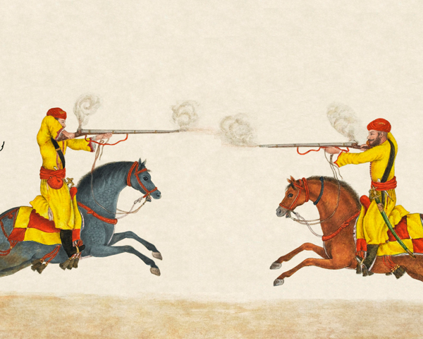 Method of attack with the musket when meeting the enemy head on', 1824