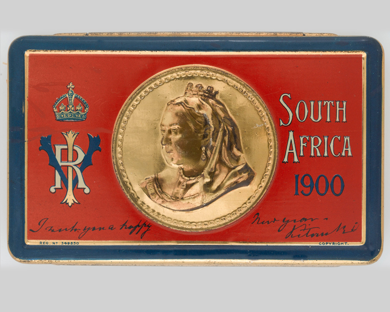 Queen Victoria's gift chocolate box for troops serving in the Boer War, 1900