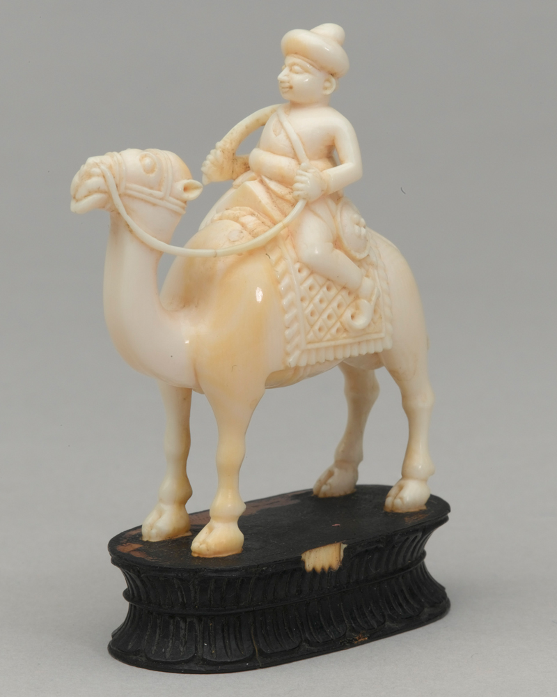 Black knight, chess piece, India, 1820