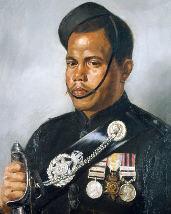 Portrait of Jemadar Jangia Thapa, 5th Gurkha Regiment, 1890