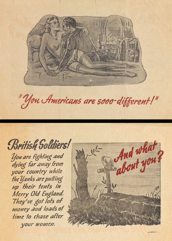 German propaganda leaflet: 'You Americans are sooo different!', 1943