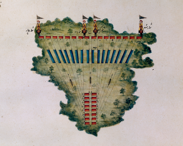 Positions for the manoeuvre of the regiment from a column to a line, 1824
