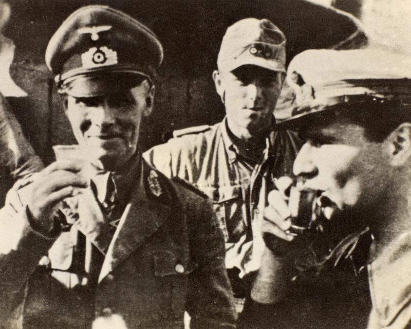 General Erwin Rommel with Afrika Korps officers, 1942