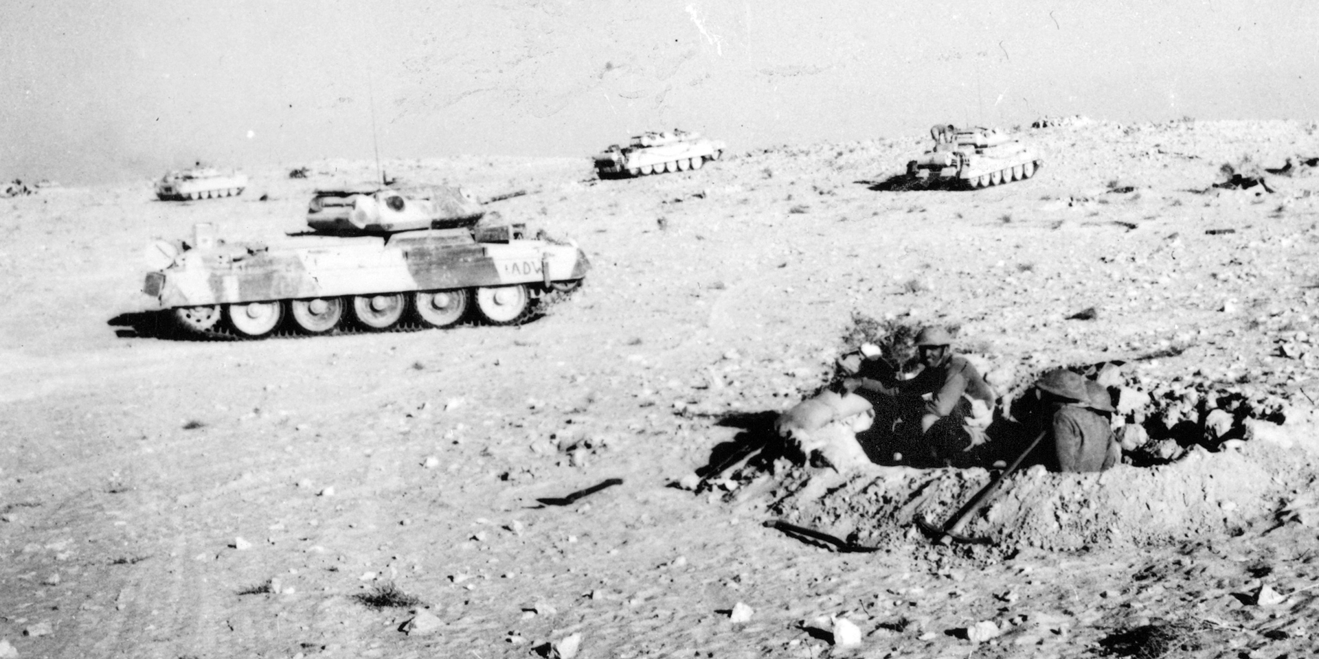 British tanks at Ruweisat Ridge during First Battle of El Alamein, 1942
