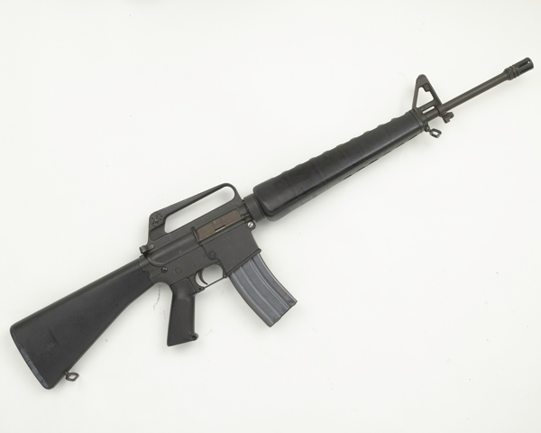 Armalite AR15 5.56 mm self-loading rifle used by the Provisional Irish Republican Army, 1975