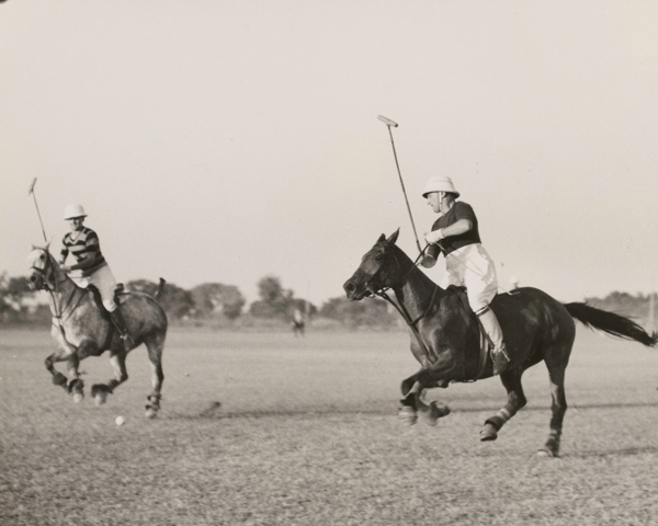 An army polo match in India, 1937