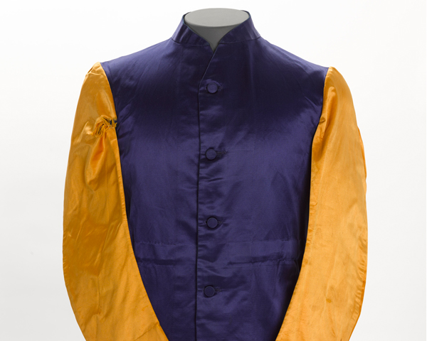 Lieutenant AH Brooke of the 18th King George's Own Lancers wore this regimental jockey shirt during the 1912 season.